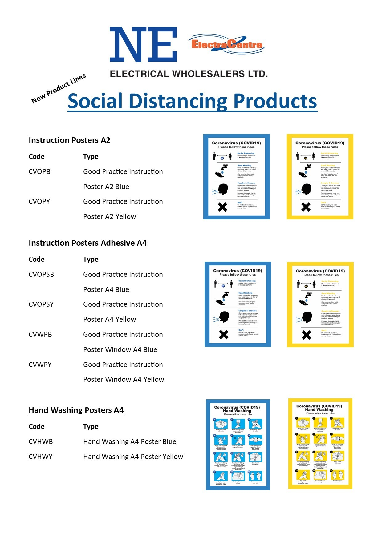 New Social Distancing Stickers