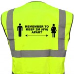 DELIGO CVSWL HI-VIZ WAISTCOTE LARGE - SOCIAL DISTANCE MARKED