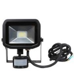 LUCECO EFLD10B40P 10W PIR LED FLOODLIGHT SLIM IP65 4000K